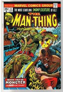 MAN-THING #8, VF-, Steve Gerber, Mike Ploog, 1974, Fear, more in store