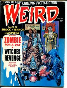 Weird  Vol. 4 #2  1970-Brain transplant cover-zombies-horror-torture-FN-