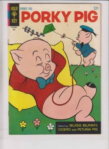 Porky Pig #7 VF- july 1966 - bugs bunny - petunia pig - cicero - gold key comic
