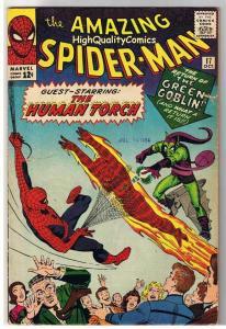 AMAZING SPIDER-MAN #17, 2nd Green Goblin,Ditko,1963,VG+