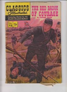 Classics Illustrated #98 (4th) print - stephen crane's the red badge of courage