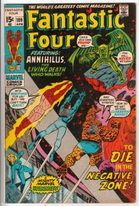 Fantastic Four #109 (Apr-71) FN/VF+ High-Grade Fantastic Four, Mr. Fantastic ...