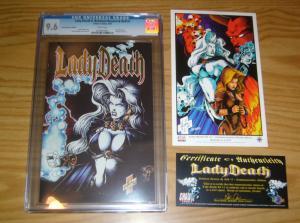 Lady Death II: Between Heaven & Hell #1 CGC 9.6 gold logo commemorative edition
