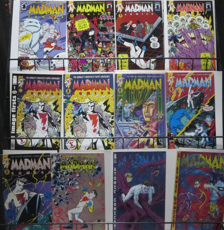 MIKE ALLRED: WORLD'S SNAPPIEST COLLECTION! 30 BOOKS- MADMAN! ATOMICS!