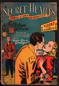 SECRET HEARTS #7 1951-DC ROMANCE-RARE ISSUE-HARD TO FIND