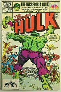 INCREDIBLE HULK#278 VF/NM 1982 MARVEL BRONZE AGE COMICS