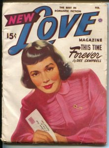 New Love 2/1950-female pulp authors-pin-up girl cover art-VG