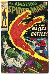 Amazing Spider-Man #77 1969- Lizard Human Torch FN