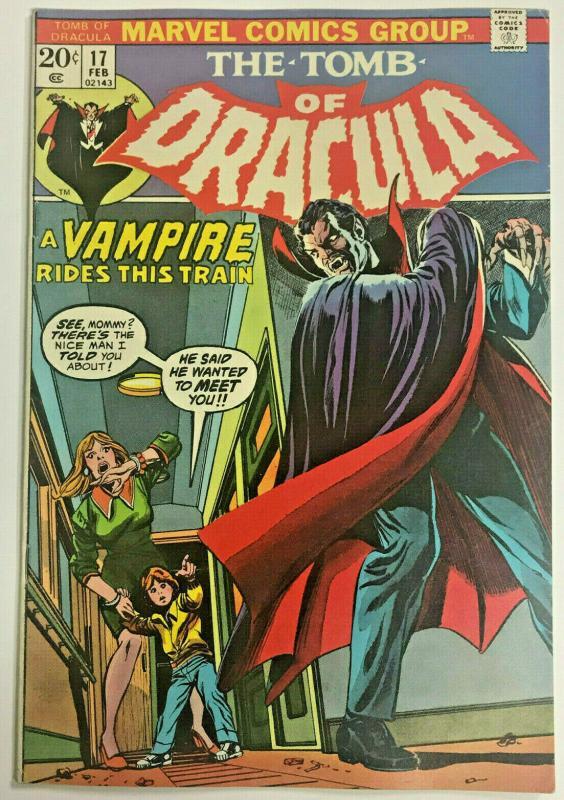 TOMB OF DRACULA#17 FN/VF 1974 MARVEL BRONZE AGE COMICS