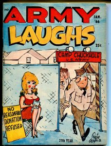 Army Laughs 1/1966-Crestwood-Pete Wyma-cartoons-gags-jokes-VF-