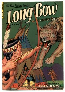 Long Bow, Indian Boy #1 1951- Fiction House Western-  FN