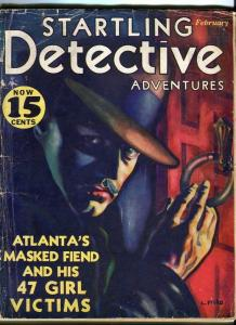 STARTLING DETECTIVE-FEB/1932-47 VICTIMS-STRANGLED BUTTERFLY-TRUNK SLAYINGS P/FR