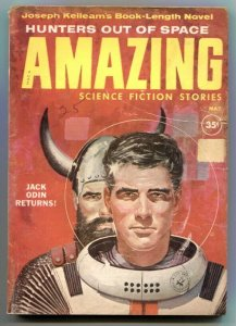 Amazing Stories May 1960- Hunters Out Of Space VG