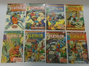 Deathlok lot 13 different issues avg 5.0 VG FN (1974-77)