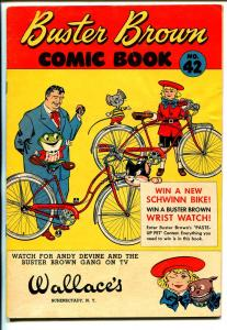 Buster Brown  #42 1950's-adventure-humor-bicycle cover-Andy Devine-FN