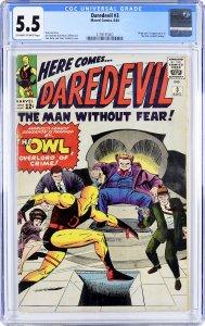 Daredevil #3 (1964) CGC GRADED 5.5