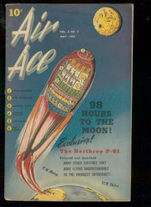 AIR ACE V.2 #9 1945-STREET & SMITH COMICS-ROCKET COVER FN