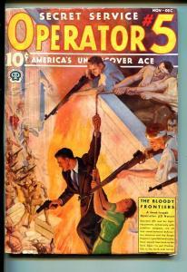 OPERATOR #5 11/1937-POPULAR-WEIRD MENACE-BLOODY FRONTIERS-PURPLE EMPIRE-vg