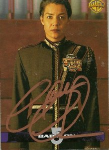Autographed 1998 Babylon 5 Video Trading Card