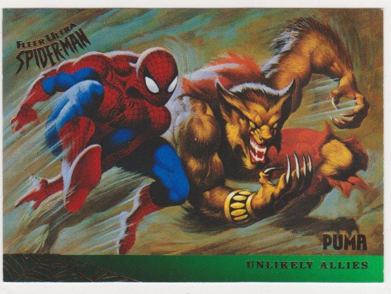 1995 Fleer Ultra Spider-Man #133 Spider-Man/Puma