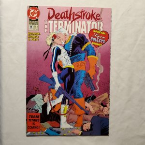 Deathstroke the Terminator 11 Near Mint Cover by Mike Zeck