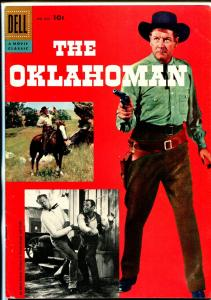 The Oklahoman-Four Color #820 1957-Dell-Joel McCrea-double cover variant-FN/VF