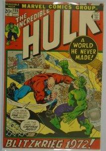 The Incredible Hulk #155 - 5.0 VG/FN - 1972