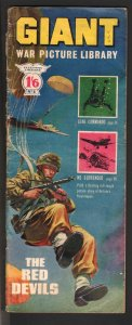 Giant War Picture Library #1 1964-1st issue-wraparound paratrooper cover-G/VG