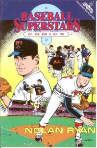 BASEBALL SUPERSTARS COMICS (1991 RR) 1 VF-NM Nolan Ryan COMICS BOOK