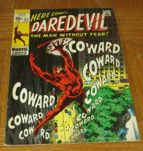 Daredevil #55 FN 1969 Marvel Silver Age Comic Mr Fear Revealed as Starr Saxon