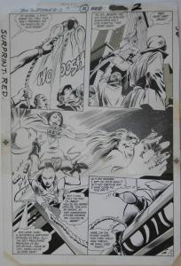 GENE COLAN / BOB McLEOD original art, JEMM SON of SATURN #12 pg 2,10x16, 1985