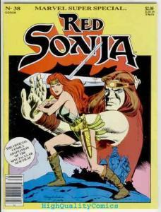 MARVEL COMICS SUPER SPECIAL #38, Red Sonja, VF, Robert E Howard, 1985