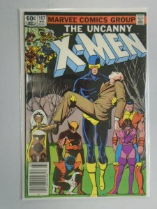 Uncanny X-Men #167 Newsstand edition 7.0 FN VF (1983 1st Series)