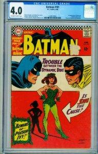 BATMAN #181 1966 -CGC 4.0 -FIRST POISON IVY- 1228147001