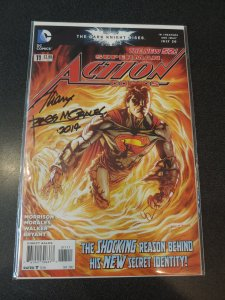 ACTION COMICS #11 SIGNED BY RAGS MORALES WITH COA
