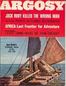 Argosy 9/1967-Popular Pubs-John Creasey-pulp thrills-Jack Ruby-LFK-Oswald-VG/FN