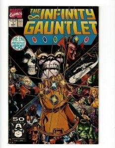 The Infinity Gauntlet Complete Marvel Comics LTD Series # 1 2 3 4 5 6 Thanos OF2