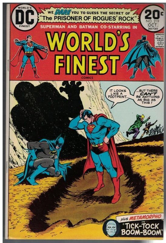 WORLDS FINEST 219 F-VF  Oct. 1973