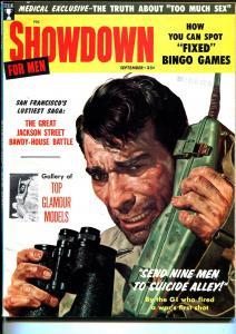 Showdown 9/1958-Sterling-Korean War-fixed Bingo games-body snatchers-VF
