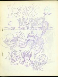 Komix Heroz of the Future #7 1965- Rare mimeo zine- Historic fanzine FN