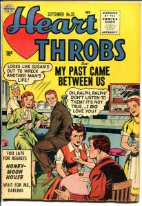 Heart Throbs #35 1955-Quality-romance-excellent art-soda shop-ice cream-FN