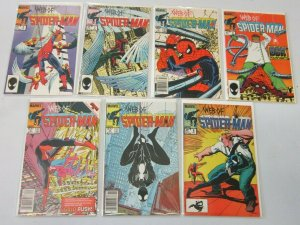 Web of Spider-Man comic lot from:#2-9 7 difference 6.0 FN (1985)