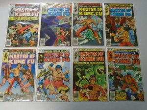 Master of Kung Fu lot 15 different from #76-91 avg 6.0 FN (1979-80)