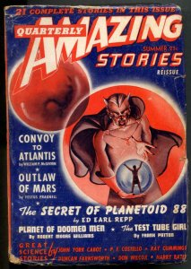 Amazing Stories Quarterly Pulp Summer 1942- Test Tube Girl