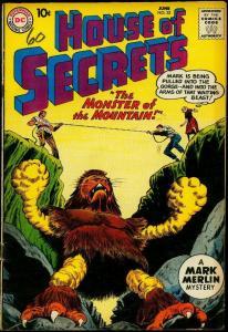 House of Secrets #33 1960- Mark Merlin- DC monster cover FN