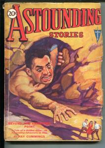 ASTOUNDING STORIES 03/1931-CLAYTON-WEIRD MENACE-GOLDEN ATOM-CUMMINGS-vg