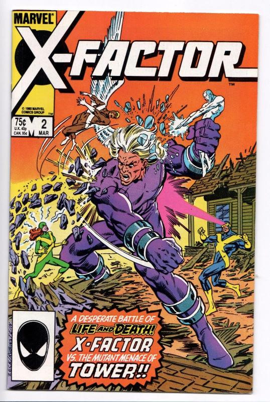 X-Factor #2 - 1st Appearance Of Tower (Marvel, 1986) - NM