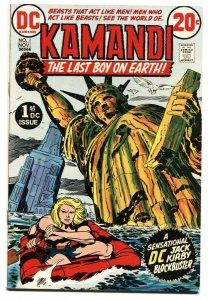 KAMANDI #1 1972-KIRBY ART DC comic book VF