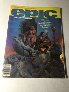 Epic Illustrated 2 Vg Very Good 4.0 Bottom Middle Staple Detached Marvel