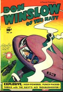 DON WINSLOW OF THE NAVY #59  WAR -- EGYPTIAN COLLECTION FN/VF